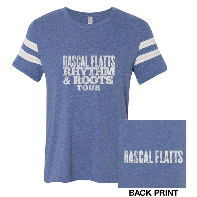 Rascal Flatts Rhythm & Roots Football tee