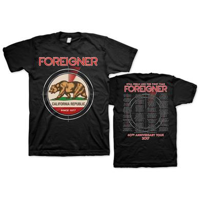 Foreigner Black California Event Tee
