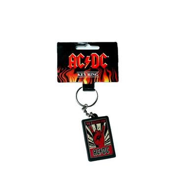 AC/DC Rectangular We Salute You Rubber Keychain