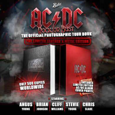 AC/DC Rock or Bust Leather and Metal Book