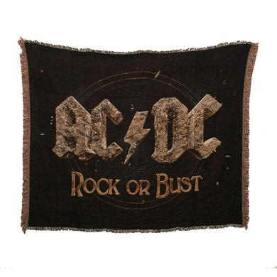 AC/DC Rock Or Bust Throw Blanket
