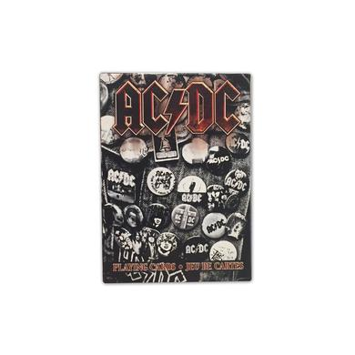 AC/DC Button Collage Playing Cards
