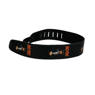 AC/DC Leather Angus Devil Horns Guitar Strap