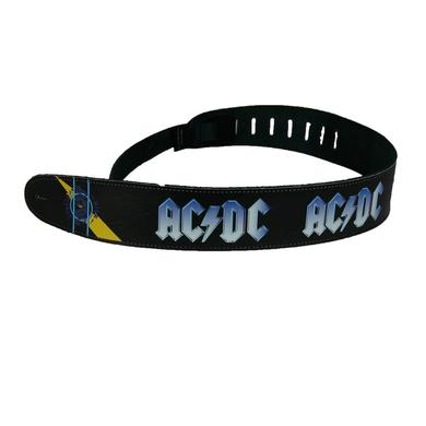 AC/DC Leather Blue Ice Guitar Strap
