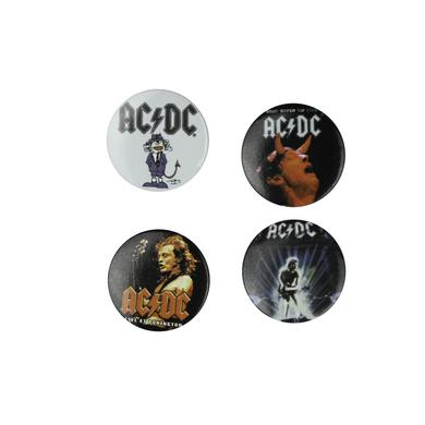 AC/DC All Sorts Of Angus 4 Button Pack
