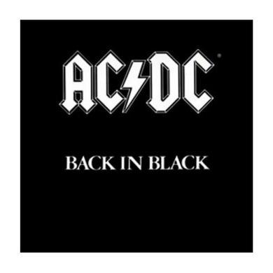 AC/DC Back in Black Square Magnet