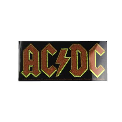 AC/DC Glitter Rectangular Logo Sticker