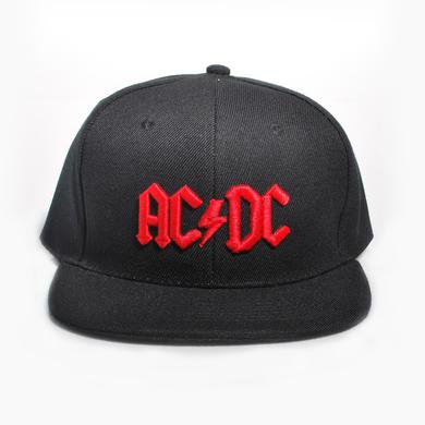 AC/DC Red 3D Logo Snapback Baseball Hat