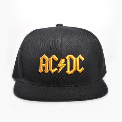 AC/DC Mustard 3D Logo Snapback Baseball Hat