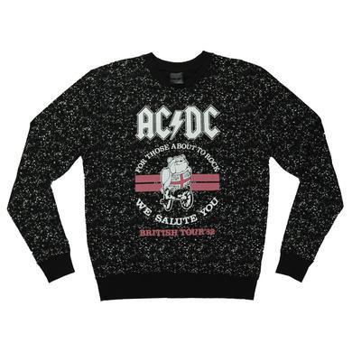 AC/DC Britain '82 About To Rock Crew Neck Sweatshirt