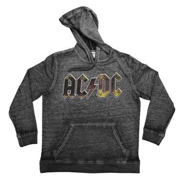AC/DC Weathered Plug Me In Logo Hoodie
