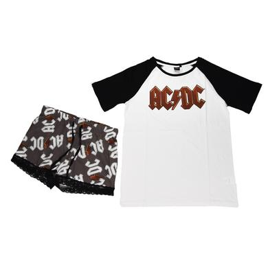 AC/DC Women's Short-Sleeve Raglan Sleep Set