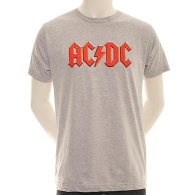 AC/DC Grey Classic Logo T-Shirt
