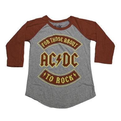 AC/DC Kids Red Rocker Raglan