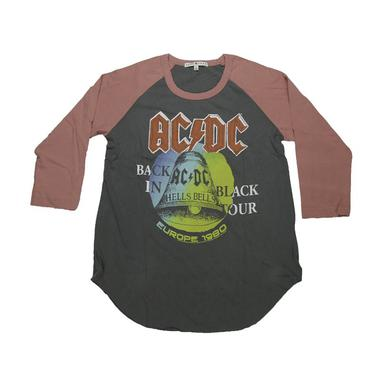 AC/DC Women's Back In Black European Tour Raglan