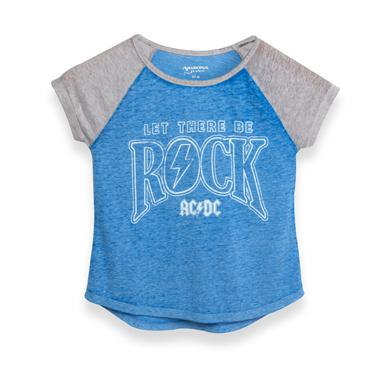AC/DC ACDC Blue/Grey Let There Be Rock Women's Tee