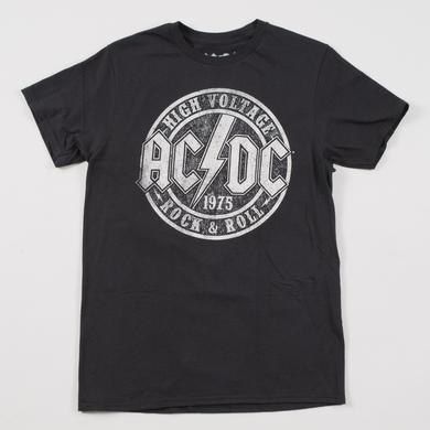 AC/DC High Voltage R&R Distressed Logo T-Shirt