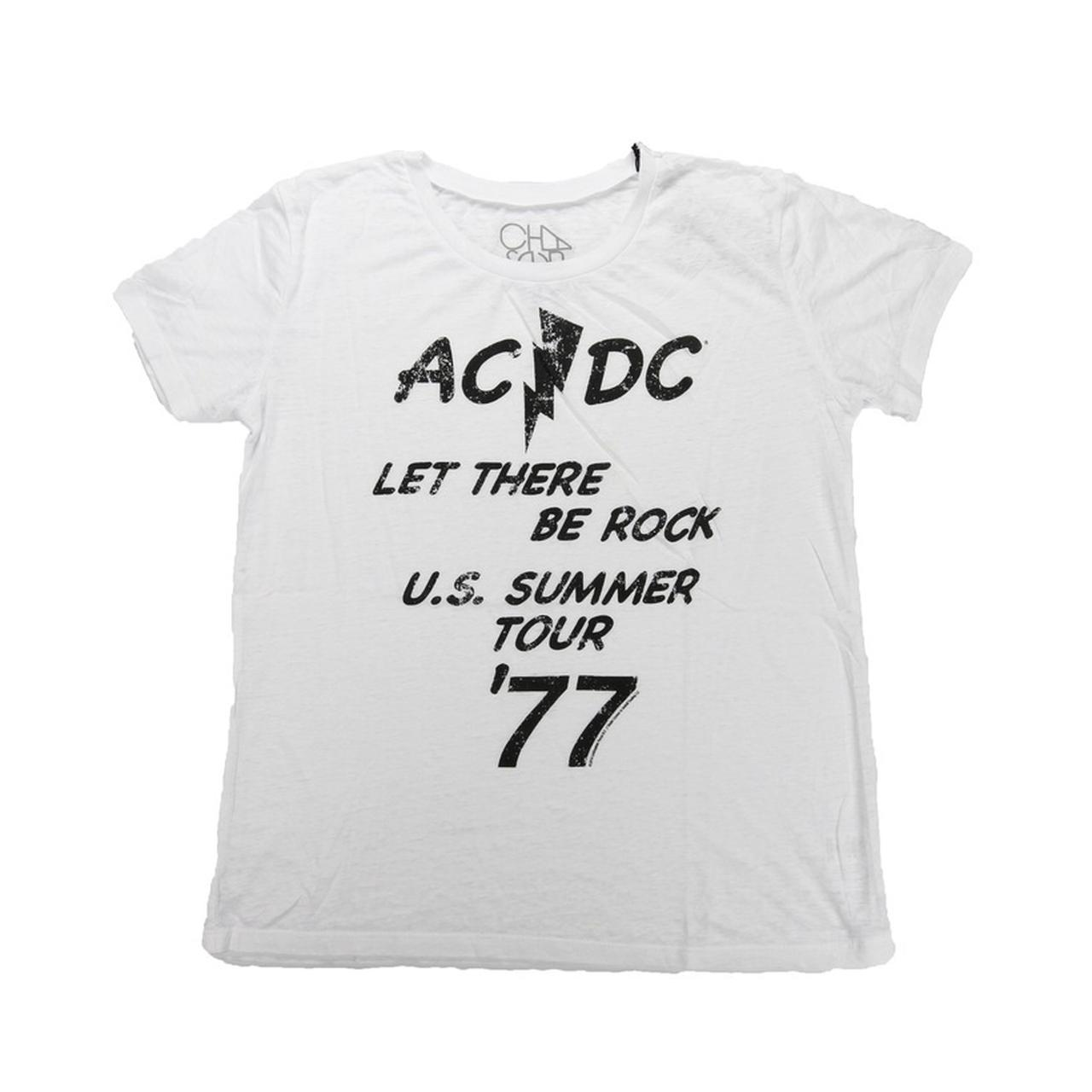 88eacc1f6ec AC DC Women s Let There Be Rock  77 Summer Tour T-Shirt. Tap to expand