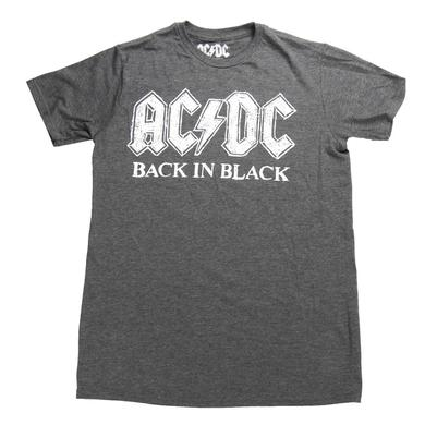 AC/DC Back In Black Charcoal Scratch Logo T-Shirt