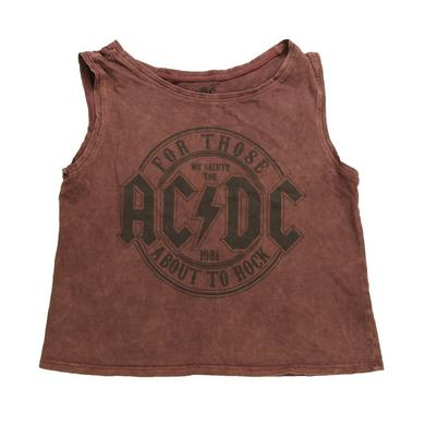 AC/DC Women's We Salute You Sleeveless T-Shirt