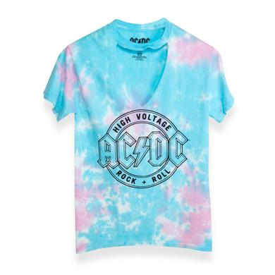 AC/DC Girls High Voltage R&R Pastel Tee