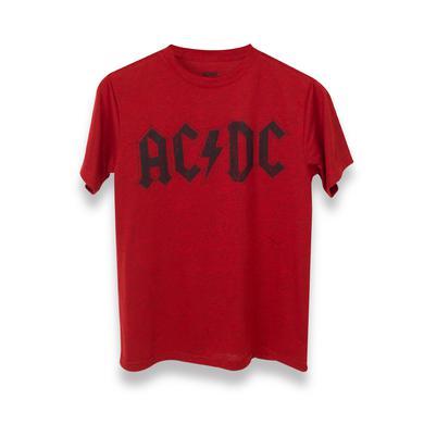 AC/DC Black Logo Red Kids T-Shirt