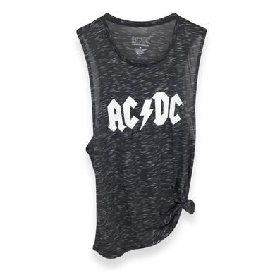 AC/DC White Logo Tie-Off Tank Top
