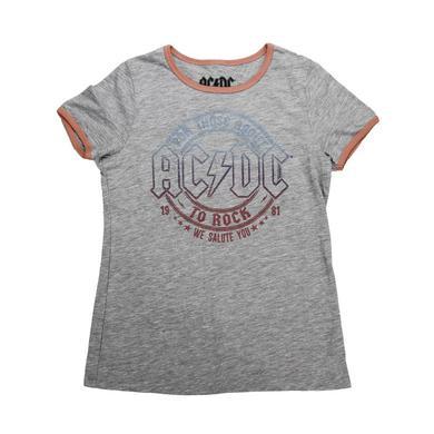 AC/DC Girls Glitter Rock T-Shirt