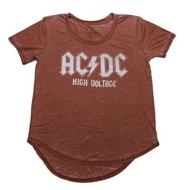 AC/DC Women's High Voltage Red Alert T-Shirt