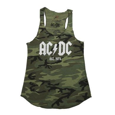 AC/DC Ladies Camo Logo '73 Tank