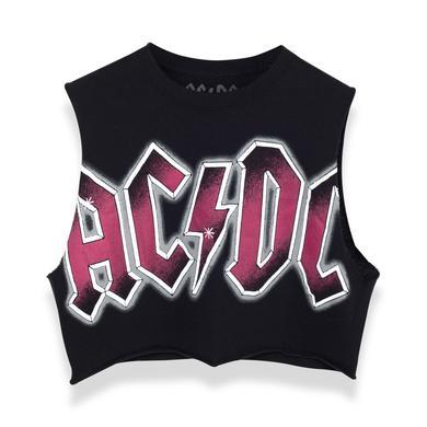 AC/DC ACDC Crop Top - Black