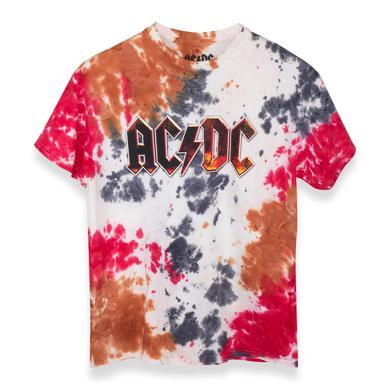 AC/DC ACDC Logo Tie Dye Shirt