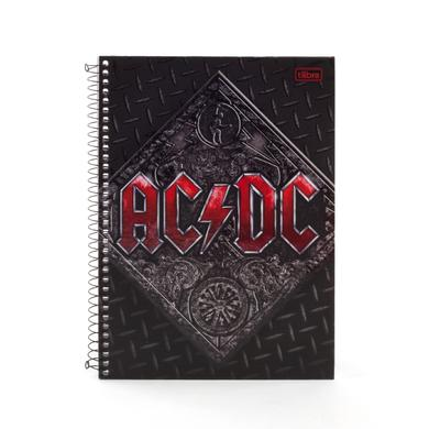 AC/DC Notebook Thin Black Tire Cover Red Logo SOME SPANISH