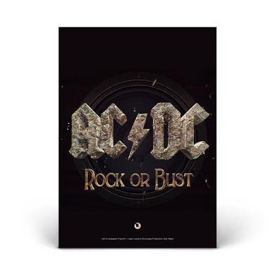 AC/DC Rock Or Bust Glass Photo Print