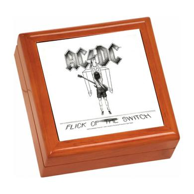 AC/DC Flick Of The Switch Wooden Keepsake Box