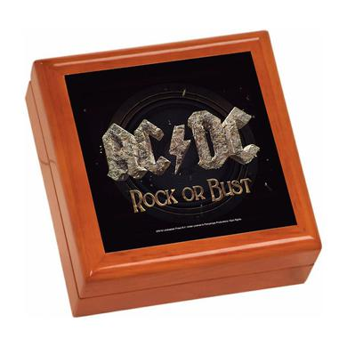 AC/DC Rock Or Bust Wooden Keepsake Box