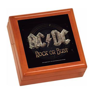 AC/DC Rock Or Bust Wooden Keepsake Box