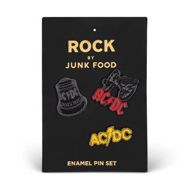 AC/DC Logo Enamel Pin Set (3 Pack)