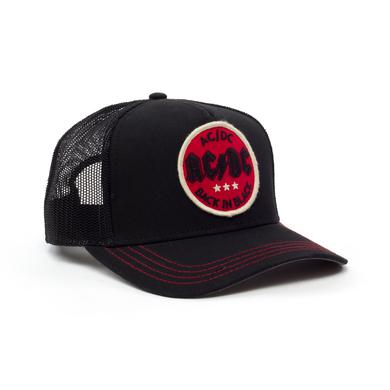 AC/DC Back In Black Red Circle Logo Black Hat