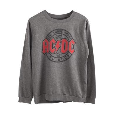 AC/DC For Those About To Rock Grey Red Logo Sweatshirt