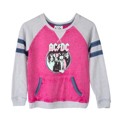 AC/DC Highway To Hell Album Cover Grey/Pink Juniors Hoodie