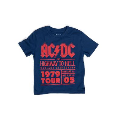AC/DC Blue Kids Highway To Hell Tour T Oakland 1979
