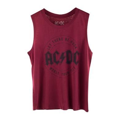 AC/DC Let There Be Rock Tour 1977 Maroon Tank