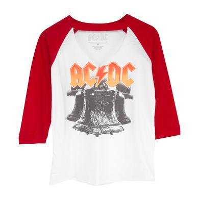 AC/DC White/Red Raglan Hells Bells