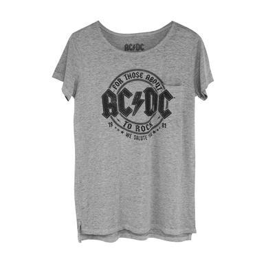 AC/DC Juniors We Salute You 1981 Burnout T-Shirt