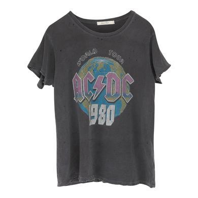 AC/DC World Tour 1980 Charcoal T-Shirt