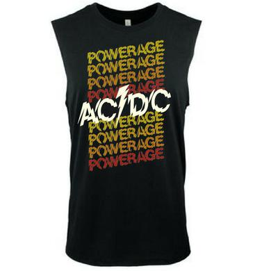 AC/DC Powerage Unisex Repeating Logo Muscle Tank