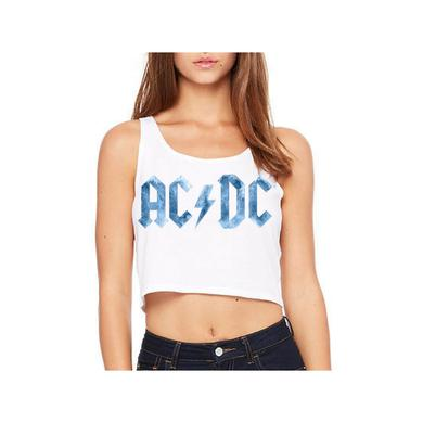 AC/DC Ice Logo Sleeveless Crop Top
