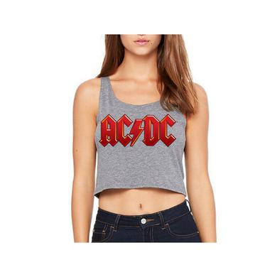 AC/DC Red Logo Sleeveless Crop Top