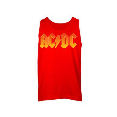 AC/DC Fire Logo Sleeveless Unisex Muscle Tee